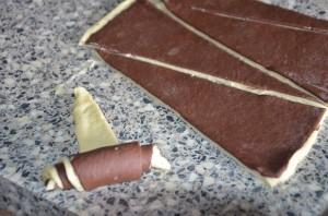 croissant bicolore au chocolat 5