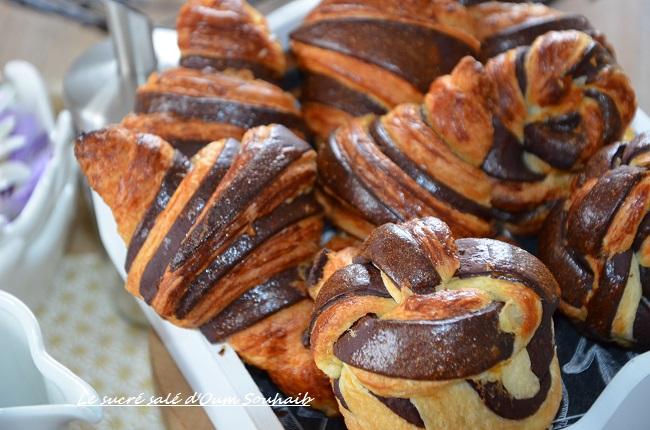 croissant bicolore au chocolat cacao