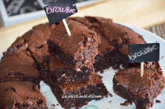 vrai brownie au chocolat et noix recette
