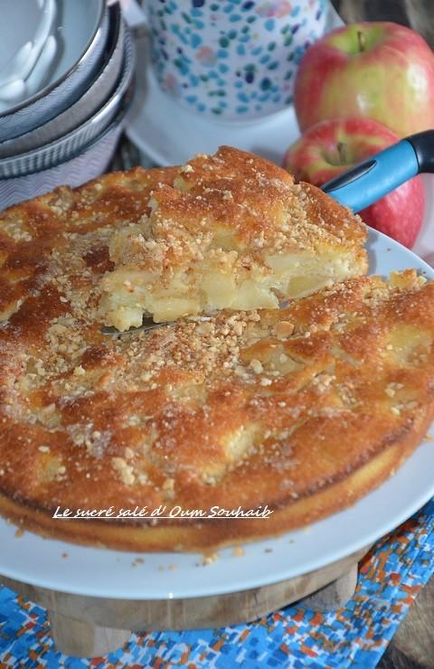 gâteau aux pommes fondant et croustillant