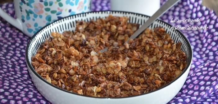 granola maison au chocolat healthy