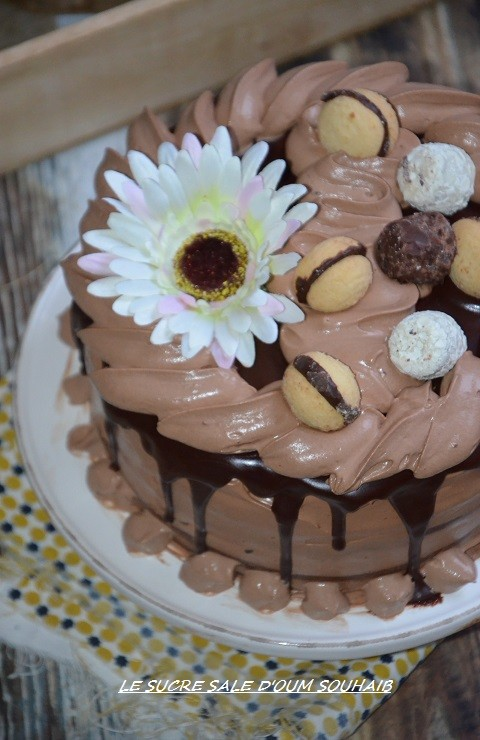 layer cake chocolat nutella 3