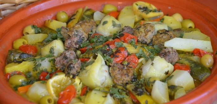 tajine de poulet aux légumes marocain boulettes kefta cirton