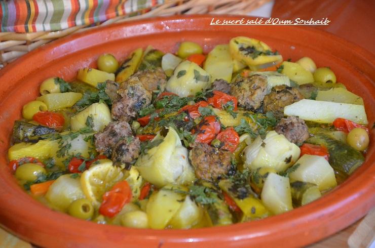 tajine de poulet aux légumes marocain