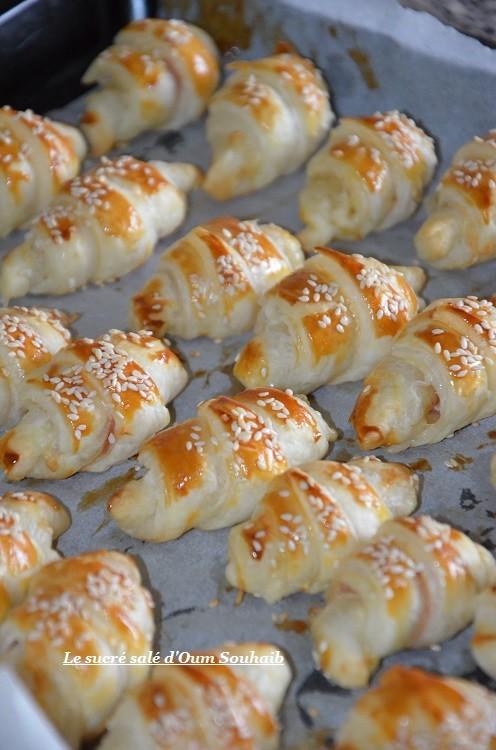 mini croissant jambon fromage béchamel