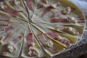 mini croissants jambon fromage béchamel 4