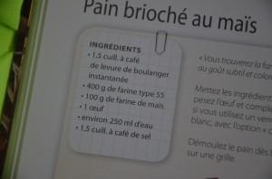 pain farine de maïs