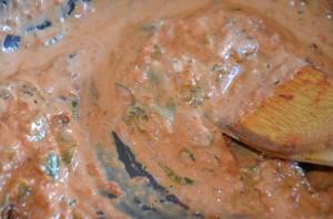 raviolis à la sauce tomate et crème fraiche 4