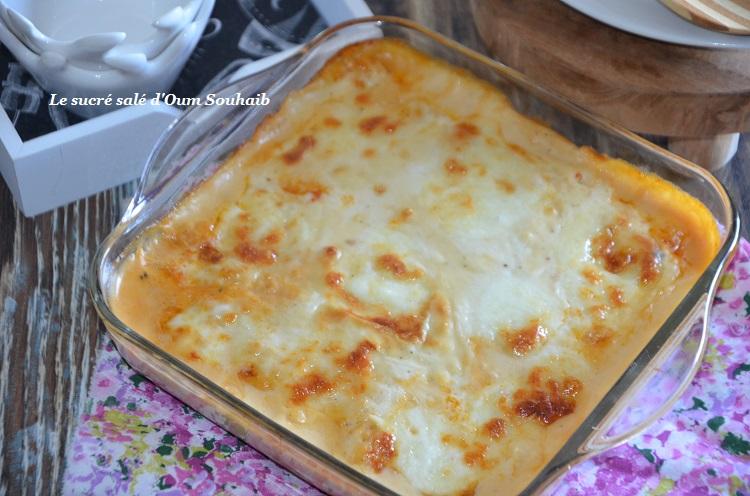 gratin de gnocchi à la sauce tomate et mozzarella