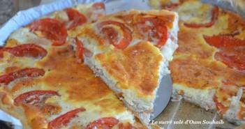tarte au thon tomate et mozzarella