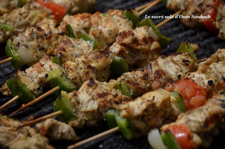brochette de poulet marocaine àla chermoula