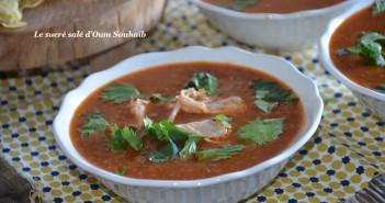 chorba tunisienne au poulet (tchitcha)