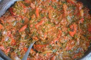 pain farci aux légumes cuit à la poêle 6