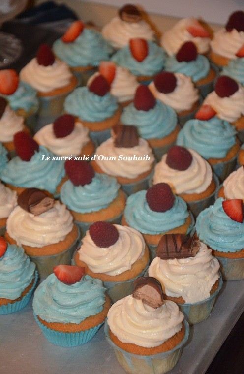 cupcakes fraises kinder bueno