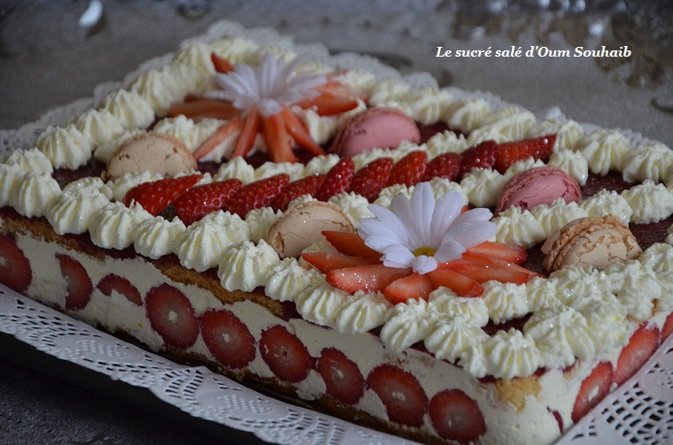 fraisier framboisier creme au beurre chantilly mascarpone