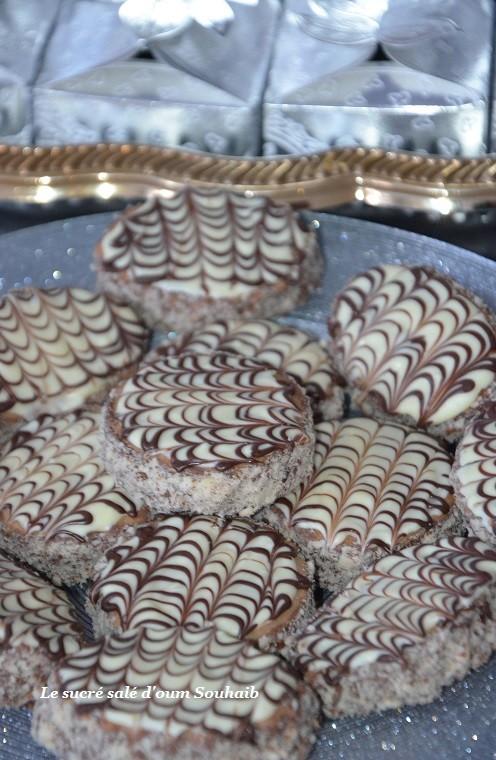 sablés au cacao nutella et glaçage marbré