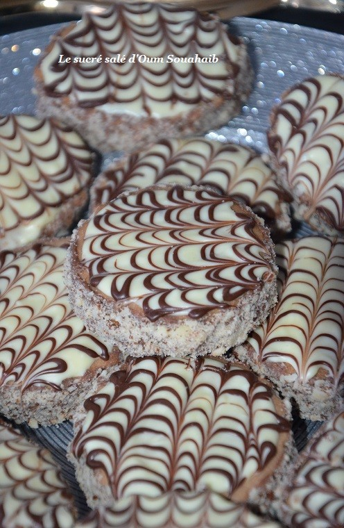sablés au cacao nutella et glaçage marbré 3