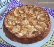 gâteau aux pommes aux amandes effilées.