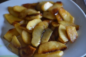 gâteau aux pommes aux amandes effilées 4