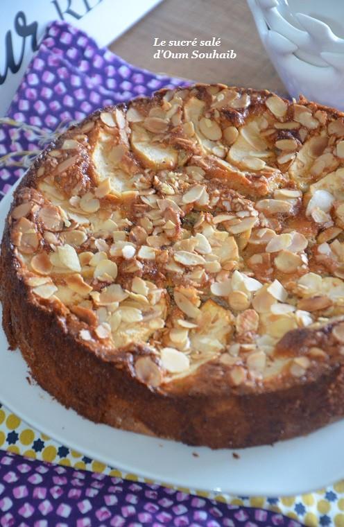gâteau aux pommes aux amandes effilées