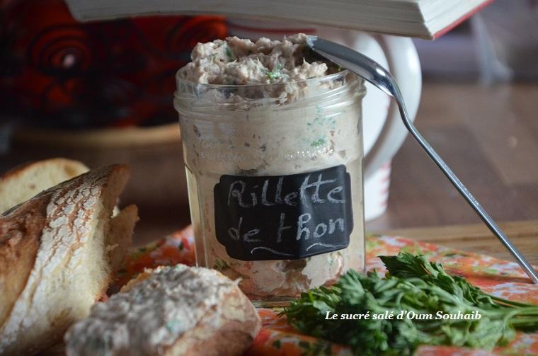 rillettes de thon à la crème fraiche