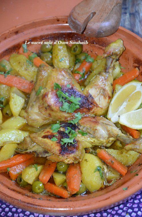 tajine de poulet pommes de terre et olives
