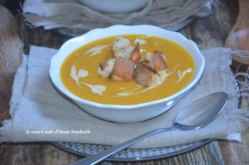 Soupe De Butternut Au Monsieur Cuisine Le Sucre Sale D Oum Souhaib