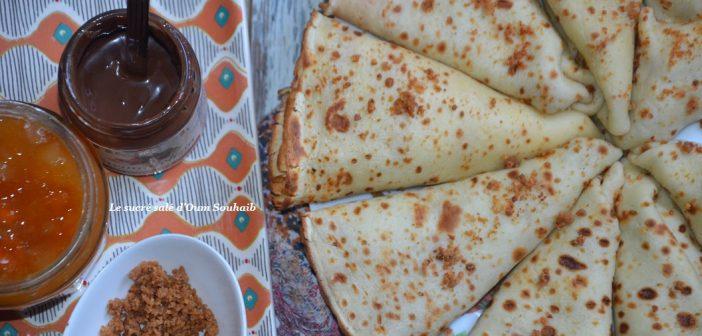 crêpes moelleuses au yaourt (sans lait)